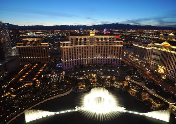 The Bellagio Fountains, Las Vegas, Nevada. Print/Poster/Canvas. Sizes: A3/A2/A1
